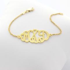 oval monogram bracelet in silver 22, Soter Monogram